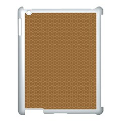 Pattern Honeycomb Pattern Brown Apple Ipad 3/4 Case (white) by Simbadda