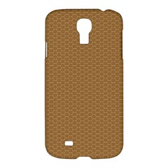 Pattern Honeycomb Pattern Brown Samsung Galaxy S4 I9500/i9505 Hardshell Case by Simbadda
