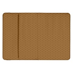 Pattern Honeycomb Pattern Brown Samsung Galaxy Tab 8 9  P7300 Flip Case by Simbadda