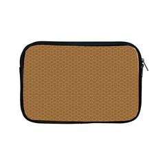 Pattern Honeycomb Pattern Brown Apple Ipad Mini Zipper Cases by Simbadda
