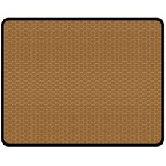 Pattern Honeycomb Pattern Brown Double Sided Fleece Blanket (medium)  by Simbadda