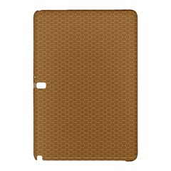 Pattern Honeycomb Pattern Brown Samsung Galaxy Tab Pro 10 1 Hardshell Case by Simbadda