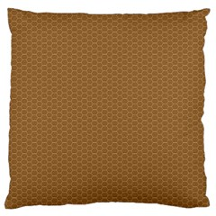 Pattern Honeycomb Pattern Brown Large Flano Cushion Case (one Side) by Simbadda