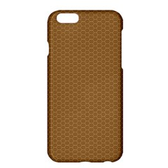 Pattern Honeycomb Pattern Brown Apple Iphone 6 Plus/6s Plus Hardshell Case by Simbadda