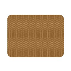Pattern Honeycomb Pattern Brown Double Sided Flano Blanket (mini)  by Simbadda