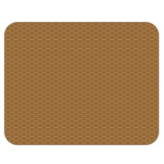 Pattern Honeycomb Pattern Brown Double Sided Flano Blanket (medium)  by Simbadda