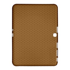 Pattern Honeycomb Pattern Brown Samsung Galaxy Tab 4 (10 1 ) Hardshell Case  by Simbadda
