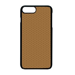 Pattern Honeycomb Pattern Brown Apple Iphone 7 Plus Seamless Case (black) by Simbadda