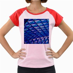 Lines Geometry Architecture Texture Women s Cap Sleeve T Shirt by Simbadda
