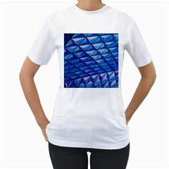 Lines Geometry Architecture Texture Women s T Shirt (white) (two Sided) by Simbadda