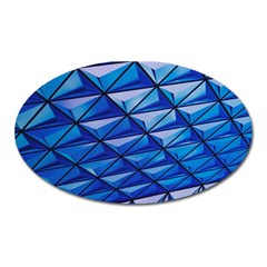 Lines Geometry Architecture Texture Oval Magnet by Simbadda