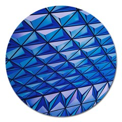 Lines Geometry Architecture Texture Magnet 5  (round) by Simbadda