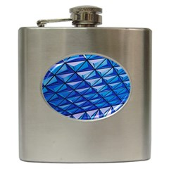 Lines Geometry Architecture Texture Hip Flask (6 Oz) by Simbadda