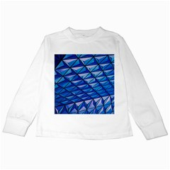 Lines Geometry Architecture Texture Kids Long Sleeve T Shirts by Simbadda