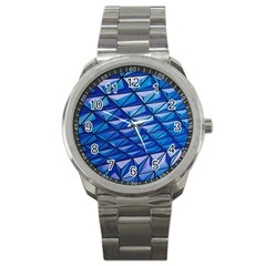 Lines Geometry Architecture Texture Sport Metal Watch by Simbadda