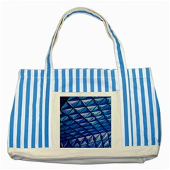 Lines Geometry Architecture Texture Striped Blue Tote Bag by Simbadda