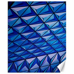 Lines Geometry Architecture Texture Canvas 16  X 20   by Simbadda