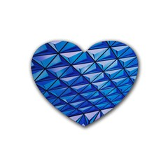 Lines Geometry Architecture Texture Heart Coaster (4 Pack)  by Simbadda