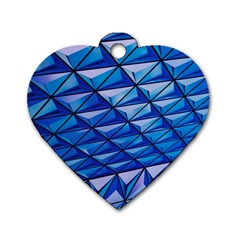 Lines Geometry Architecture Texture Dog Tag Heart (one Side) by Simbadda