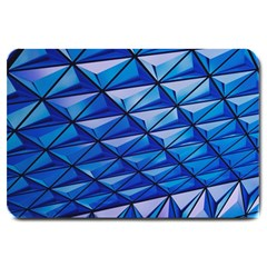 Lines Geometry Architecture Texture Large Doormat  by Simbadda