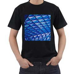 Lines Geometry Architecture Texture Men s T Shirt (black) by Simbadda