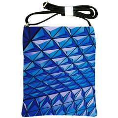 Lines Geometry Architecture Texture Shoulder Sling Bags by Simbadda