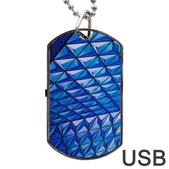 Lines Geometry Architecture Texture Dog Tag Usb Flash (one Side) by Simbadda