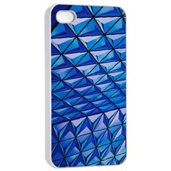 Lines Geometry Architecture Texture Apple Iphone 4/4s Seamless Case (white) by Simbadda