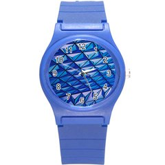Lines Geometry Architecture Texture Round Plastic Sport Watch (s) by Simbadda