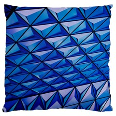 Lines Geometry Architecture Texture Large Cushion Case (one Side) by Simbadda