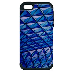 Lines Geometry Architecture Texture Apple Iphone 5 Hardshell Case (pc+silicone) by Simbadda