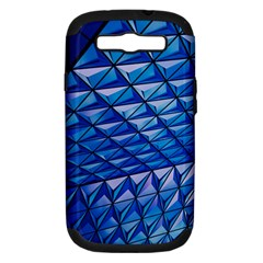 Lines Geometry Architecture Texture Samsung Galaxy S Iii Hardshell Case (pc+silicone) by Simbadda