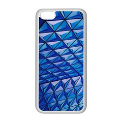 Lines Geometry Architecture Texture Apple Iphone 5c Seamless Case (white) by Simbadda
