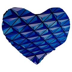 Lines Geometry Architecture Texture Large 19  Premium Flano Heart Shape Cushions by Simbadda