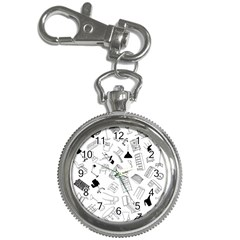 Furniture Black Decor Pattern Key Chain Watches by Simbadda