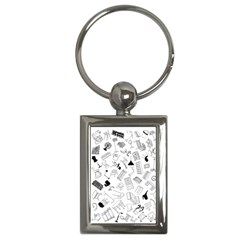 Furniture Black Decor Pattern Key Chains (rectangle)  by Simbadda
