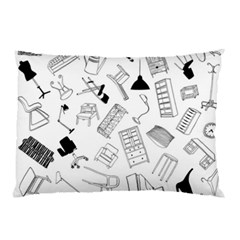 Furniture Black Decor Pattern Pillow Case by Simbadda