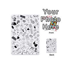 Furniture Black Decor Pattern Playing Cards 54 (mini)  by Simbadda