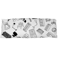 Furniture Black Decor Pattern Body Pillow Case (dakimakura) by Simbadda
