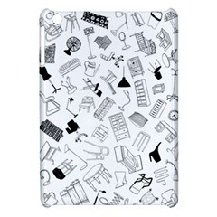 Furniture Black Decor Pattern Apple Ipad Mini Hardshell Case by Simbadda
