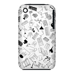 Furniture Black Decor Pattern Iphone 3s/3gs by Simbadda