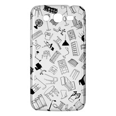 Furniture Black Decor Pattern Samsung Galaxy Mega 5 8 I9152 Hardshell Case  by Simbadda