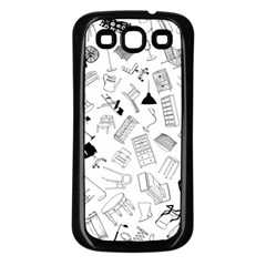 Furniture Black Decor Pattern Samsung Galaxy S3 Back Case (black) by Simbadda