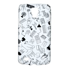 Furniture Black Decor Pattern Galaxy S4 Active by Simbadda