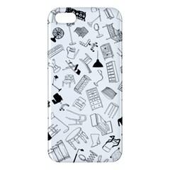 Furniture Black Decor Pattern Iphone 5s/ Se Premium Hardshell Case by Simbadda