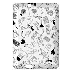 Furniture Black Decor Pattern Kindle Fire Hdx Hardshell Case by Simbadda