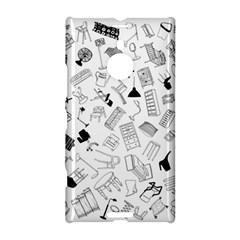 Furniture Black Decor Pattern Nokia Lumia 1520 by Simbadda