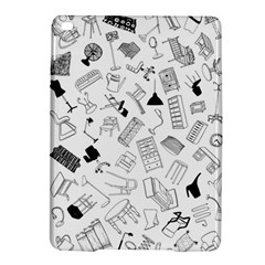 Furniture Black Decor Pattern Ipad Air 2 Hardshell Cases by Simbadda