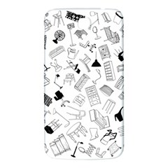 Furniture Black Decor Pattern Samsung Galaxy Mega I9200 Hardshell Back Case by Simbadda