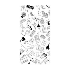 Furniture Black Decor Pattern Samsung Galaxy Alpha Hardshell Back Case by Simbadda